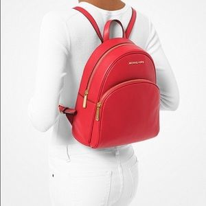 NWT authentic MK leather backpack red